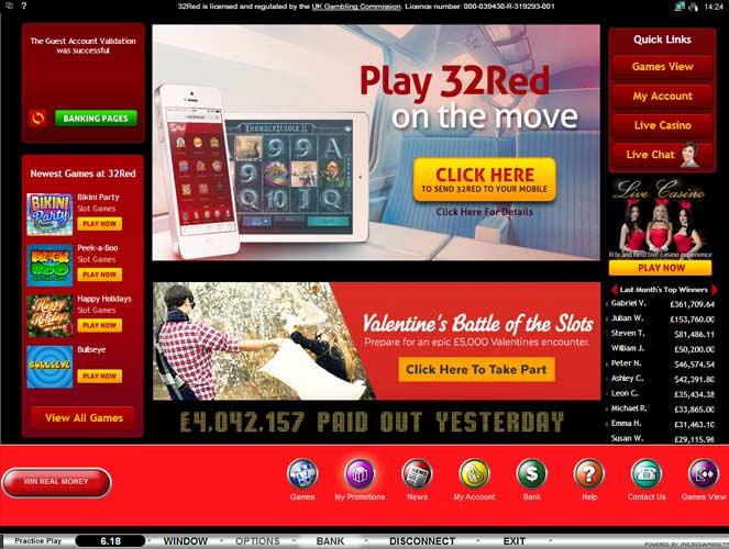 online casino lobby