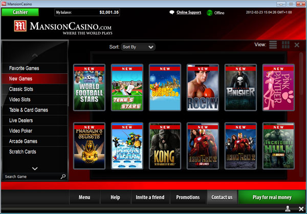 mansion online casino slot online casino